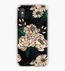 Moody Florals - Cream iPhone Case