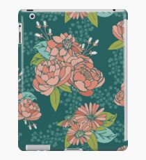 Moody Florals - Teal iPad Case/Skin