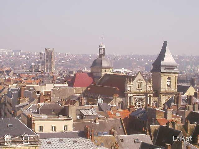 Rooftops of Dieppe by EtiKat