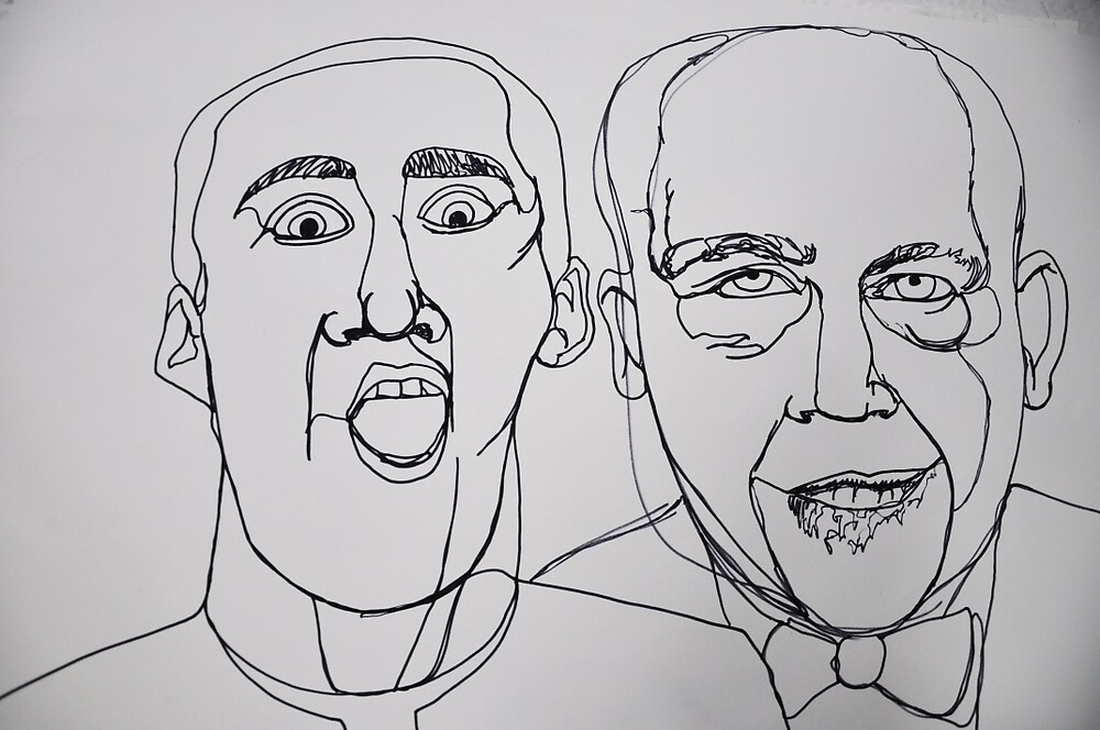 Malcovich and Cage by adamgoodison1