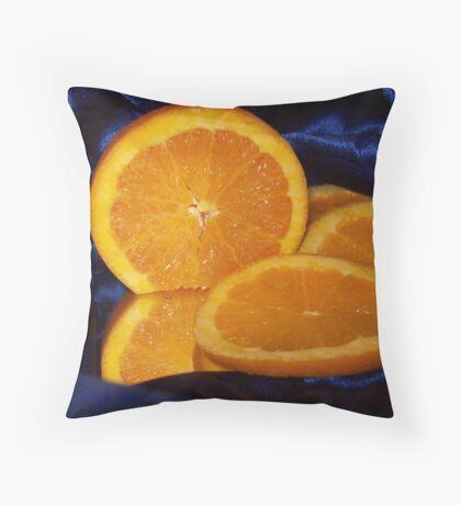 Fruit on Satin Throw Pillow