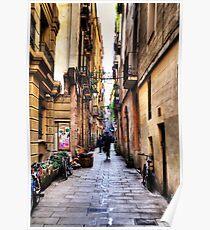 Barcelona Alley Poster