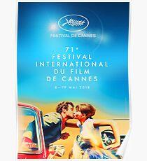"""Póster Festival de Cine de Cannes (2018), 71 - """"Pierrot le Fou"""", Jean-Paul Belmondo, Anna Karina - Jean-Luc Godard"""