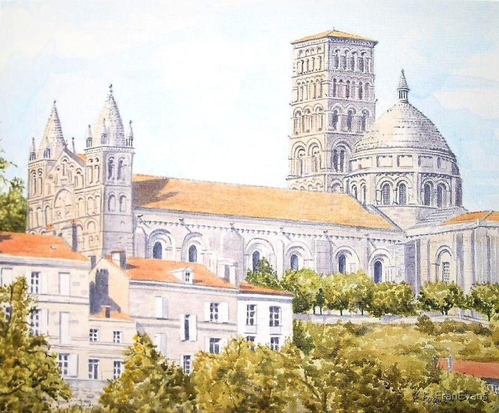 Cathedral, Angoulême, France by FranEvans