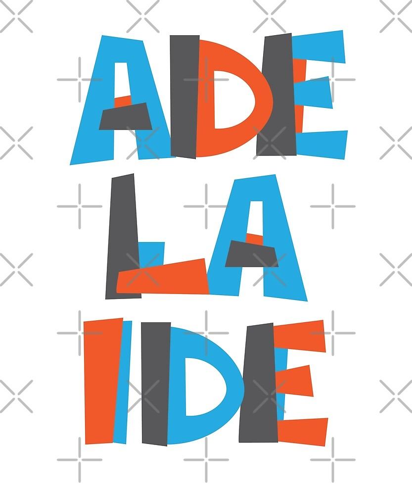 Adelaide Hand Drawn Text T-Shirt by designkitsch
