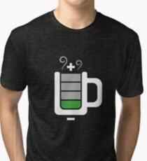 Cup battery charging Tri-blend T-Shirt