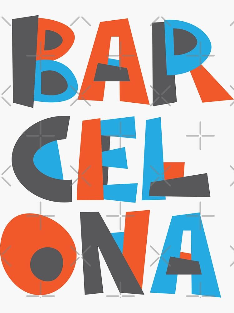 Barcelona Hand Drawn Text by designkitsch
