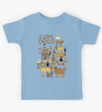 I Love Dogs Kids Tee