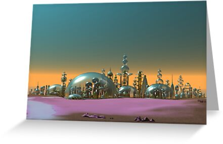 City of Glass Gold and Silver by mdkgraphics
