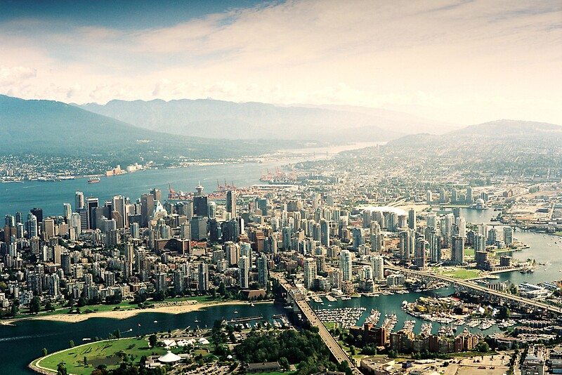 Quot Vancouver Aerial View Quot Posters By Chad Kruger Redbubble
