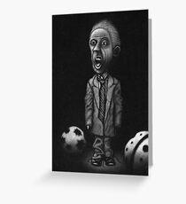 small man, big mouth Greeting Card