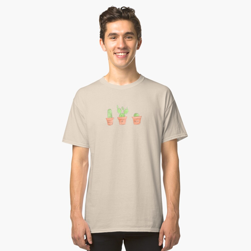 Plants Are Friends Classic T-Shirt Front