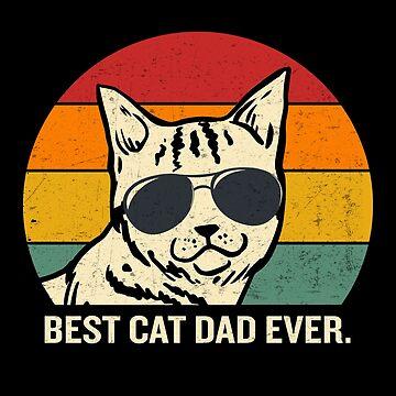 Las mejores gafas de sol de Cat Dad Ever Vintage Cool Cat de JapaneseInkArt