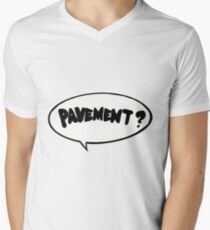 Pflaster? Aufkleber T-Shirt mit V-Ausschnitt für Männer
