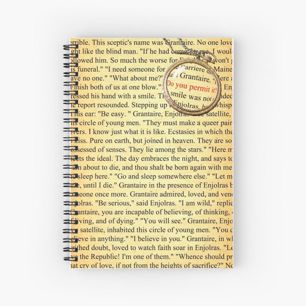 Enjolras y Grantaire desde el ladrillo Cuaderno de espiral