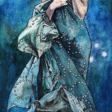 Moonlight inspired by Alphonse Mucha by AnnaShell