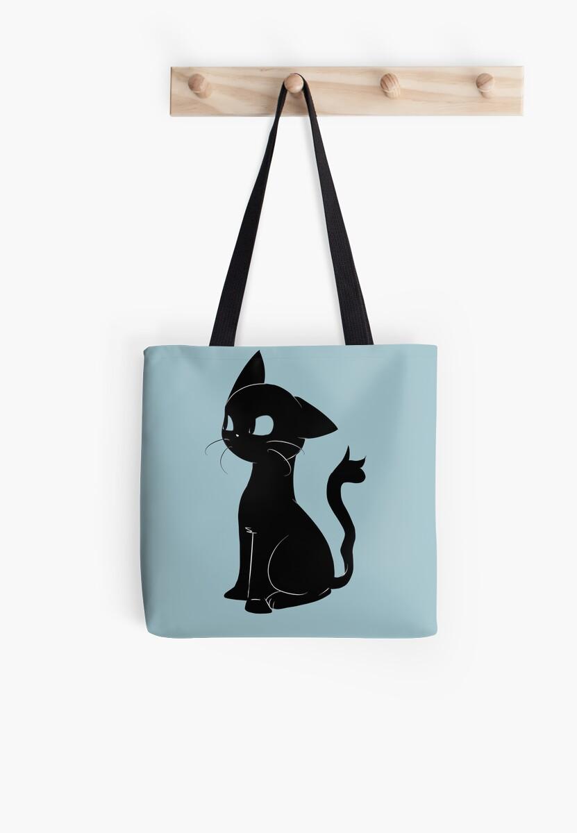 black cat by katzesart