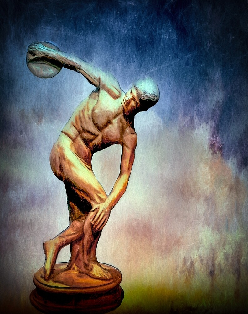 A Study of The Discus Thrower by Wib Dawson