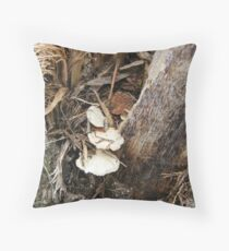 tiny shelf fungus Throw Pillow