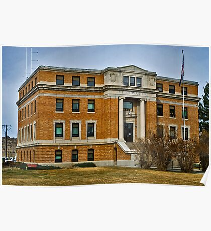 Stillwater County, Montana, Court House Poster