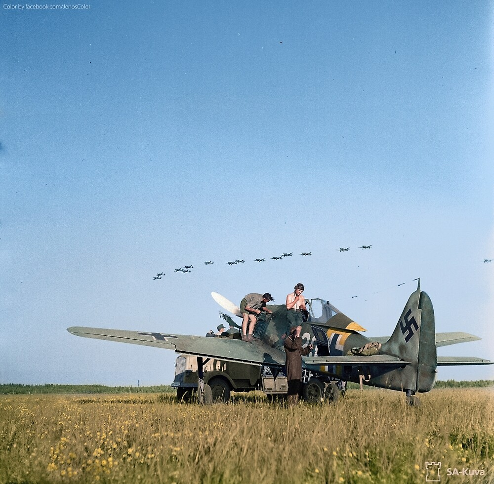Stuka Dive Bombers Flying Over by jenoscolor