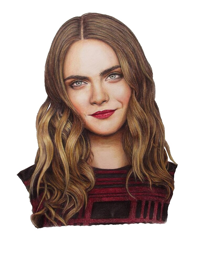 Cara Delevingne Drawing by StillClaire