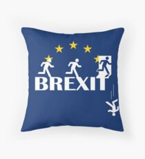 The real Brexit logo - Funny Brexit Tshirt mug pillow hoodie Throw Pillow