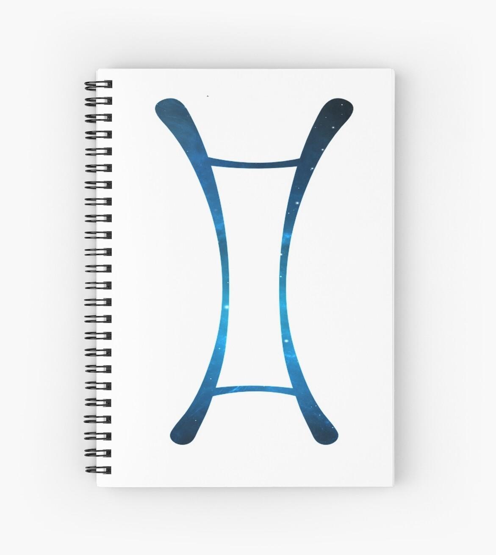Gemini Blue Galaxy Symbol by DancingGeek