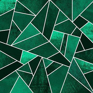 Smaragdstein - weiße Linien von foto-ella