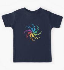 Color: Dolphin Rainbow Pinwheel Kids Tee