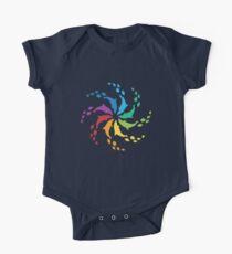 Farbe: Dolphin Rainbow Pinwheel Baby Body Kurzarm