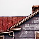 Rusty Roof, Cracked Chimney by Rod  Adams