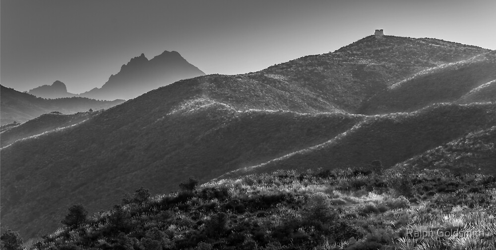 Hills and Mountains in Black and White by Ralph Goldsmith