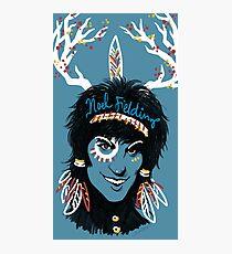 Noel Fielding: Blue Diamonds Photographic Print