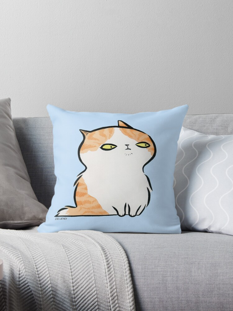 Serious Kitten - ginger and white kitty cat by zoel