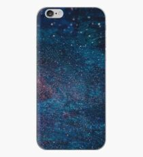 Blue and Red Galaxy Artwork Abstract iPhone Case