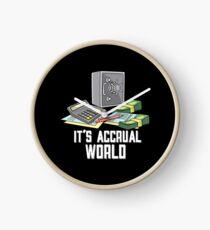 Lustig ist es Accrual World Accounting Pun - Einzigartige Buchhalter-Geschenkideen Uhr
