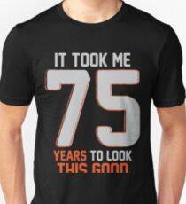 Funny 75th Birthday Pun Design
