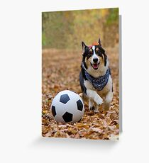 Four-legged Soccer Player Greeting Card