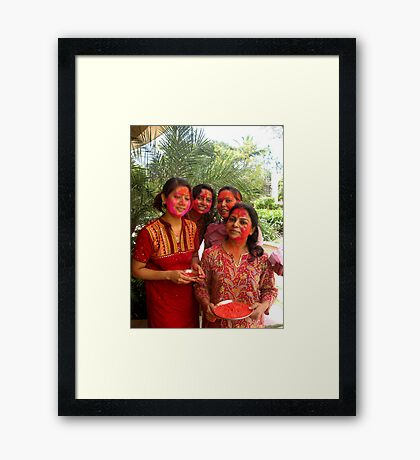 Happy Friends Framed Print