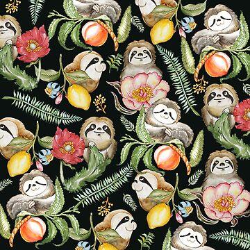Botanical and Sloths by Huebucket