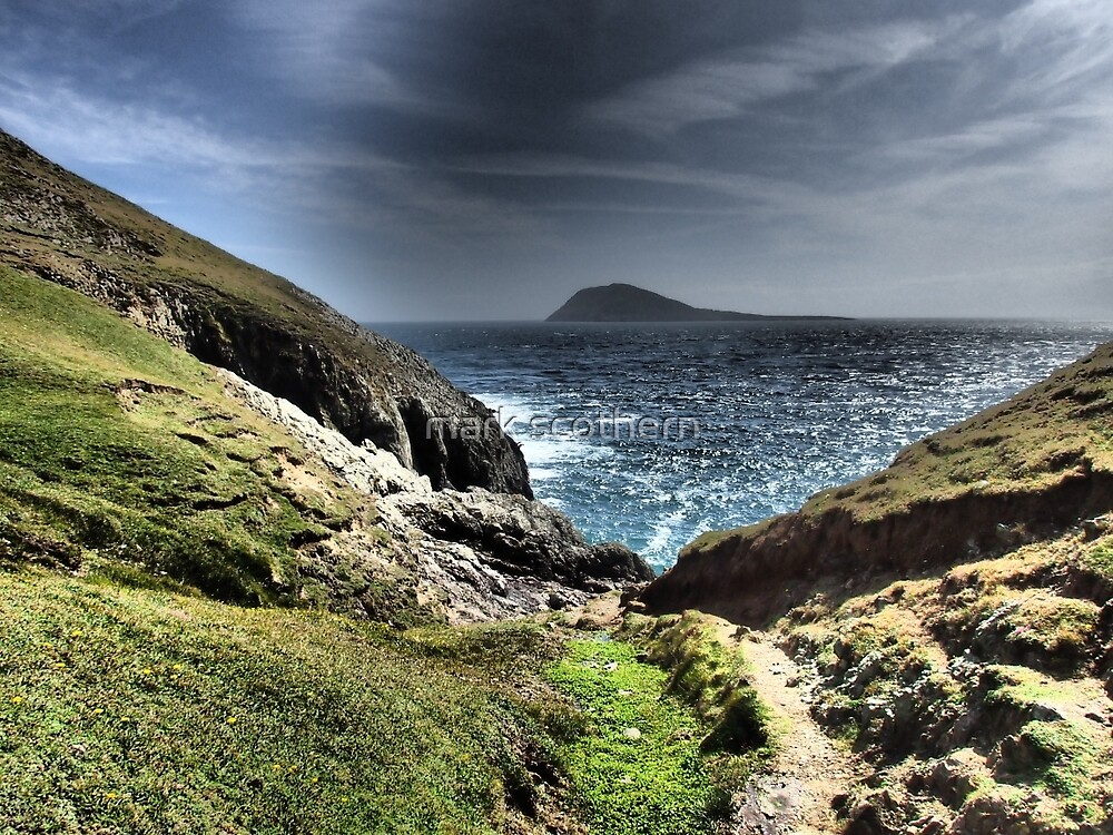Looking out to Bardsey Island by mark scothern