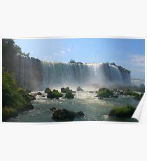 Wall of Water - Landscape, Iguazu Falls Poster