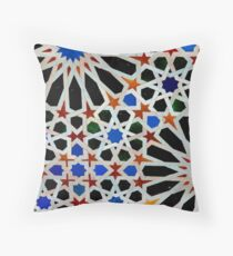 An Arabic (Moorish) tile design at the Alhambra, Andalucia,Spain  Throw Pillow