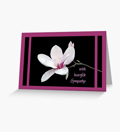 Magnolia Sympathy Card Greeting Card