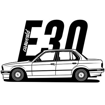E30 Sedan Side Profile Best Shirt Design by CarWorld