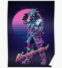 Apex Legends - Bloodhound 80er Retro Outrun Poster Poster