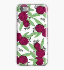 Maroon Ranunculus iPhone Case/Skin