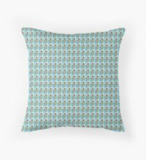 Hand drawing depicting a pig with wings and balloons, I say funny drawing Throw Pillow