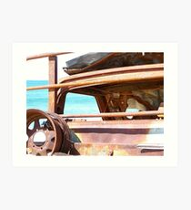 Beach Relic - Stockton Beach Art Print